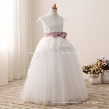 2016 fashion children flower girl dress for wedding latest white color lace children wedding dress