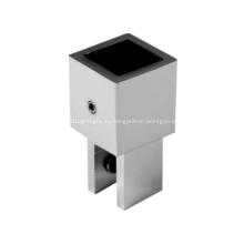 Conector de tubo de ducha de vidrio con riel de montaje vertical ajustable
