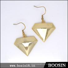 Pendiente estrella de oro de lujo Diamante # 21593