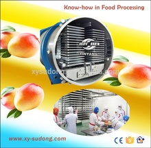 2000kg/batch drying capacity fruit, food, meat freeze dryer/High capacity vacuum food freeze drying machine