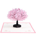 3D effect cherry blossom greeting cards