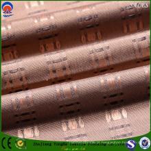 Revestimento resistente à chama poliéster flocagem cortina tecidos com preço competitivo