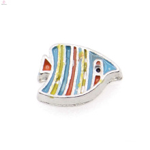 Fashionable colorful fish charms,fish pendant charms,fish floating locket pendant charms