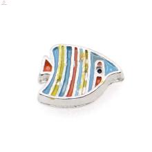 Encantos de peixe colorido na moda, encantos de pingente de peixe, encantos de pingente de medalhão flutuante de peixe