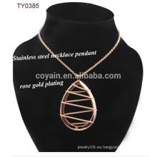 Cadena De Enrollamiento Agua Drop Colgante Nuevo Modelo Collar Cadena De Metal