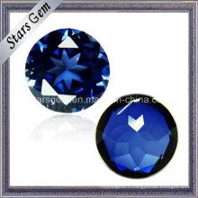 Bonne coupe ronde Sapphire Stone 34 # Couleur saphir