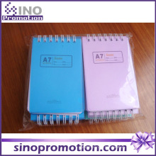 Chinês barato Hardcover Mini Spiral Notebook com papel colorido