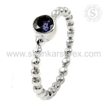 Aristocratic Silver Jewelry Blue Iolite Ring 925 Silver Jewelry Ring Manufacturing