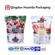 Levante-se o saco do empacotamento de alimento da fruta da charneca com zíper