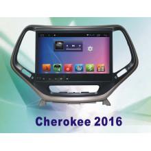 Système Android Car DVD GPS voiture pour Cherokee 10,2 pouces avec navigation Bluetooth