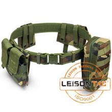 Ceinture militaire avec pochettes doublées 1000D nylon imperméable matériau composite