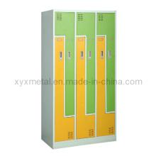 Armário de armário de metal com armário com 2 portas em forma de Z para venda