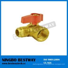 Robinet à tournant sphérique de gaz de laiton de 90 degrés LPG (BW-USB09)
