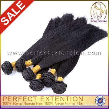 Cheveux professionnel produit fournisseur non transformé cheveux vierge normale tout droit brésilien