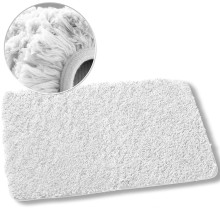 tapete de corredor de pele faux branco lavável cozinha