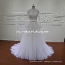 Nouvelle robe de mariée avec une jupe détachable