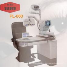 Última silla oftálmico y soporte silla ópticas Pl-860 unidad