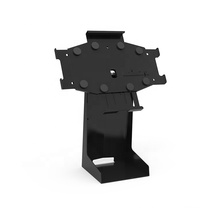 Adjustable metal two-in-one saving space tablet pos stand for full series of iPad