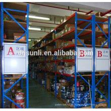 Personalizado de alta qualidade dupla cremalheira do armazenamento profundo metal resistente armazém
