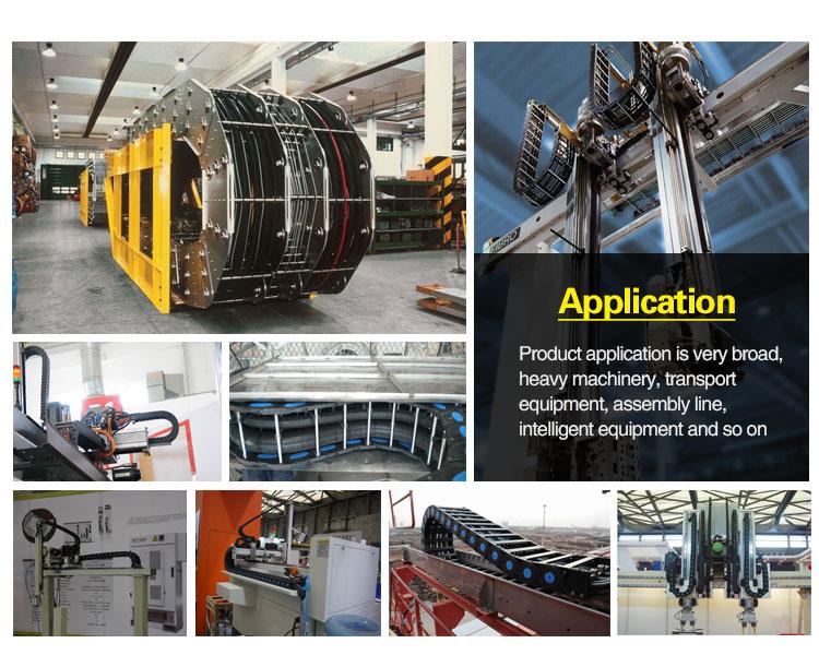 steel drag chain application