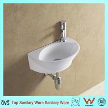 Lavabo simple de la pared del lavabo del diseñador del cuarto de baño