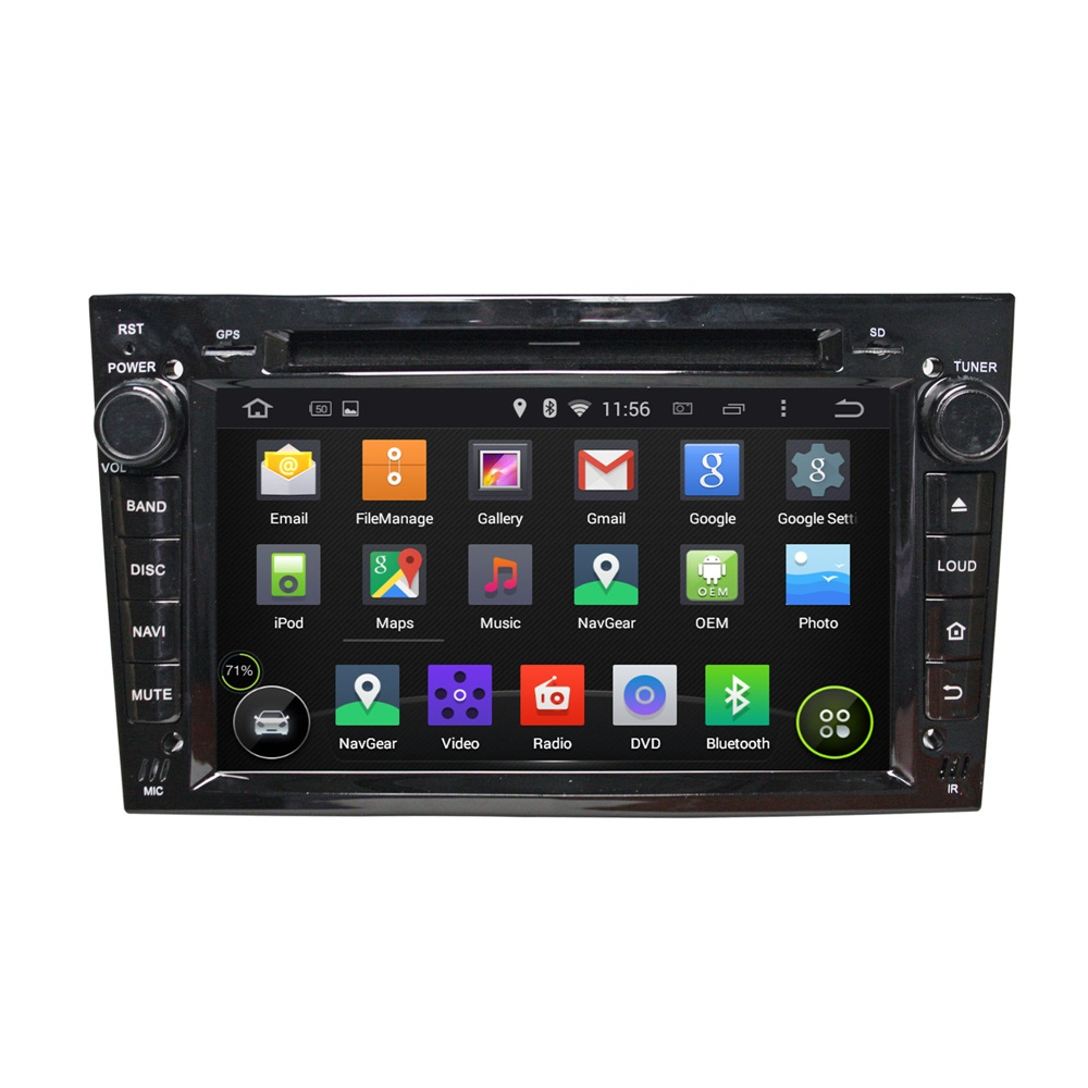 Black Opel VECTRA (2005-2008) car dvd player