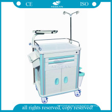AG-ET014B1 multifunction ABS Plastic hospital plastic trolley cart