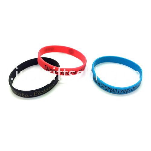 Promotional Printed Silicone Wristbands-202122mm