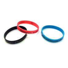 Promosi Bercetak silikon Wristbands-202 * 12 * 2mm