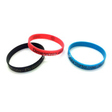 Promotional Printed Silicone Wristbands-202*12*2mm
