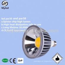 CE e Rohs aprovam lâmpadas par38 dimmable de 20w cob