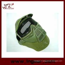 Facial masque Airsoft Mesh masque cou protéger masque