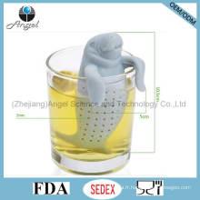 L'outil filtrant de thé à la silicone FDA manatee populaire St08