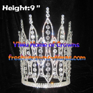 9inch Pageant Crowns With Big Clear Diamond