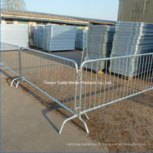 Sécurité Portable Crowd Control Iron Barrier / Powder Coated Temporary Fence Crowd Control Barrier / Crowd Control Barrier Used for Road