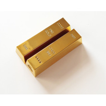 Cadeau de luxe Gold Bar Power Bank pour votre téléphone intelligent