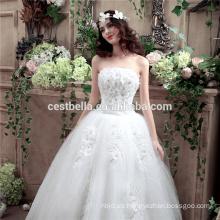 2016 del vestido de boda del cordón del hombro hecho en China