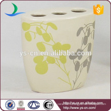 YSb40101-02-th Beige ceramic bathroom toothbrush holder for hotel