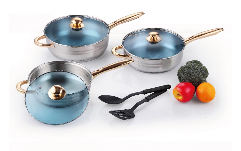 8 pcs Stainless Steel Frypans