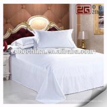 Fábrica Directamente Proveedor Algodón Hoja Plana Blanco Hotel Hojas de cama para la venta