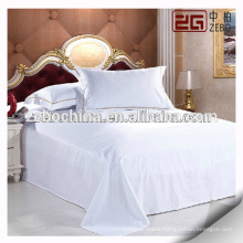 Factory Directly Supplier Cotton Flat Sheet White Hotel Bed Sheets for Sale