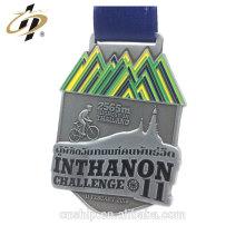Medallas de ciclismo de metal antiguo personalizado 3D diseño personalizado con esmalte