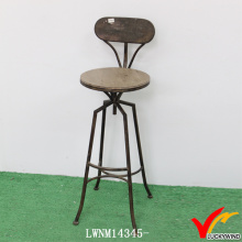 Back Design High Leg Industrial Taburetes de bar de cocina exclusivos Vintage