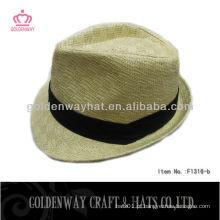 Chapéus de fedora de meninos Chapéu de fedora de palha de moda