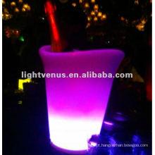 Mudança de cor RGB LED Balde de gelo de champanhe