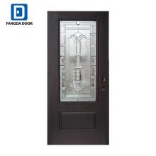 Фанда стеклопластик двери ванной комнаты со стеклянной вставкой