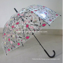 23inches Curve Handle Apollo Shape Poe Umbrella (YSN22)