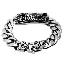 Classic Gothic Punk Style Body Jewelry ID Bracelets Anti-Allergy