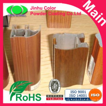 Sublimation wood effect aluminium powder coating paint