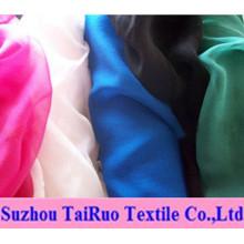 100% gasa de seda de poliéster para la tela de la ropa Fahsion